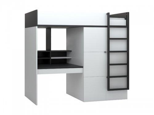 funktionsbett 90x200 cm multi von qmm platzsparend. Black Bedroom Furniture Sets. Home Design Ideas